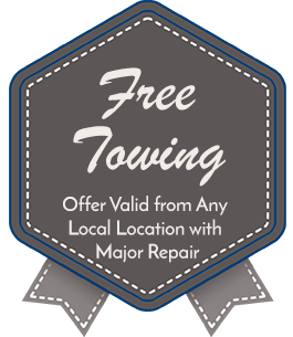 Free Towing, Offer Valid from Any Local Location with Major Repair